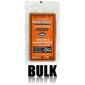 Northwest Naturals Frozen Raw Dog Food Chicken & Salmon Recipe Bulk Bars 25 lbs.