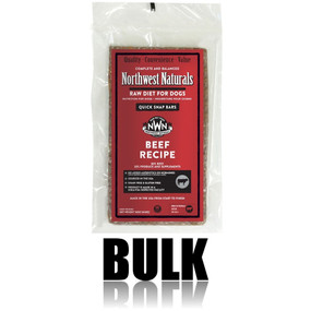 Northwest Naturals Frozen Raw Dog Food Beef Recipe Bulk Bars 25 lbs.