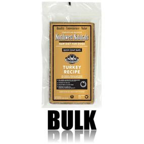 Northwest Naturals Frozen Raw Dog Food Turkey Recipe Bulk Bars 25 lbs.