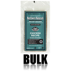 Northwest Naturals Frozen Raw Dog Food Chicken Bulk Bars 25 lbs.
