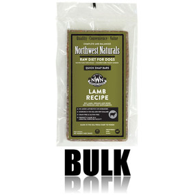 Northwest Naturals Frozen Raw Dog Food Lamb Recipe Bulk Bars 25 lbs.