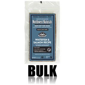 Northwest Naturals Frozen Raw Dog Food Whitefish & Salmon Recipe Bulk Bars 25 lbs.