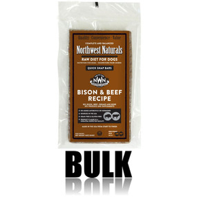 Northwest Naturals Frozen Raw Dog Food Bison & Beef Recipe Bulk Bars 25 lbs.