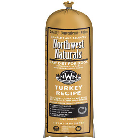 Northwest Naturals Frozen Raw Dog Food Turkey Recipe Chub 2 lbs.