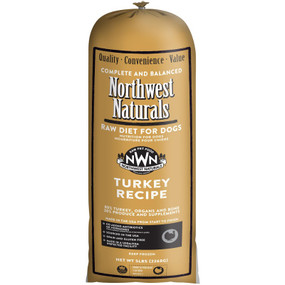 Northwest Naturals Frozen Raw Dog Food Turkey Recipe Chub 5 lbs.
