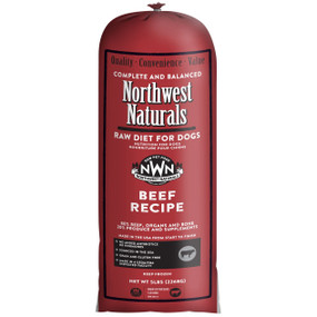 Northwest Naturals Frozen Raw Dog Food Beef Recipe Chub 5 lbs.