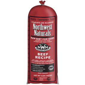 Northwest Naturals Frozen Raw Dog Food Beef Recipe Chub 2 lbs.