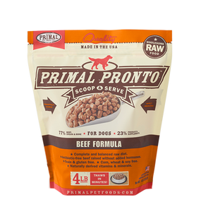Primal Raw Frozen Dog Beef Formula Pronto 4 Lbs.