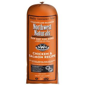 Northwest Naturals Frozen Raw Dog Food Chicken & Salmon Recipe Chub 5 lbs.