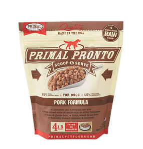 Primal Raw Frozen Dog Pork Formula Pronto 4 lbs.