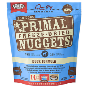 Primal Duck Recipe Freeze Dried Dog Food 14 oz