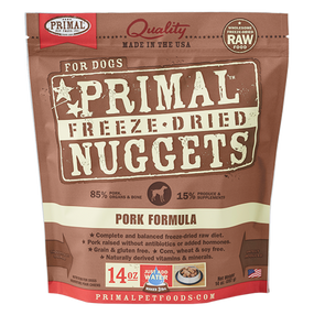 Primal Pork Recipe Freeze Dried Dog Food 14 oz