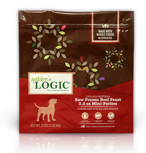 Nature's Logic Canine Raw Frozen Beef Feast 3 Lbs.