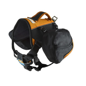 Kurgo Baxter Dog Backpack / Black & Orange
