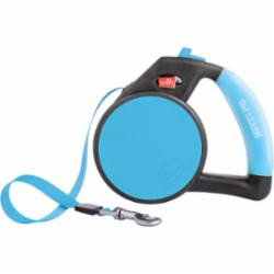 Wigzi Retractable Gel Leash Blue