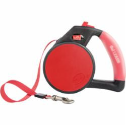 Wigzi Retractable Gel Leash Red