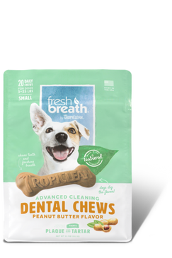 Tropiclean-Advanced Cleaning Dental Chews Peanut Butter Flavor