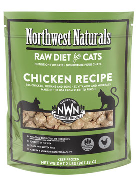 Northwest Naturals Chicken Frozen Raw Feline Diet 2#