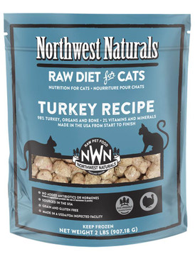 Northwest Naturals Turkey Frozen Raw Feline Diet 2#