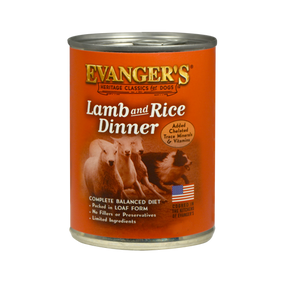 Evanger's Lamb & Rice Classic Recipe