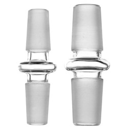 Male to Male Glass on Glass Ground Joint Adapter Fitting Converter 10mm 14mm 18mm