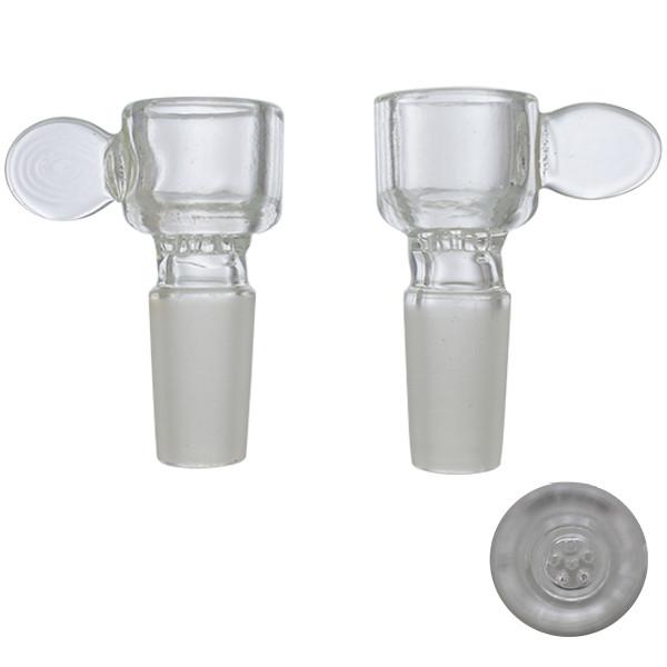Honeycomb Screen Clear Glass Slide Bowl 18mm 14mm