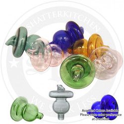 Color Glass Hulu Directional Carb Cap for Thermal Bangers