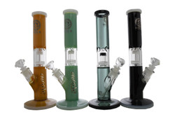 """14"""" 50 x 5mm Dual Color Matrix Perc Glass on Glass Water Pipe Bong by Encore Collection"""