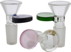 Clear Funnel with Color Disc Handle Bowl Slide