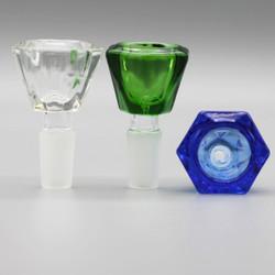 Color Bezel Diamond Shape Glass Bowl Slide