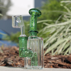 "4"" Mini Encore Collection Babyface Color Banger Hanger Oil RIg Glass Waterpipe"