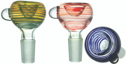 Color Spin Trail Bubble Bowl Standard & Glass on Glass