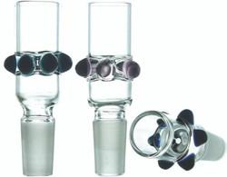 Color Dots Clear Glass Funnel Slide Bowl 14mm