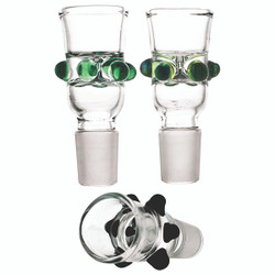 Wide Funnel Party Glass Bowl Color Dots