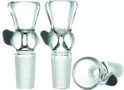 Clear Glass Funnel Slide Bowl with Color Dot Gog