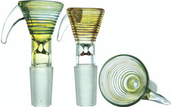 Color Wrap Silver Fumed Funnel Gog Slide Bowl