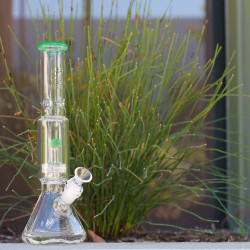 "14"" Encore Collection Glass Full Size Salt Shaker Bong"