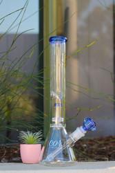 "14"" Encore Collection Glass 44x4 Single Showerhead"