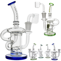 encore klien recycler glass dab rig assorted colors