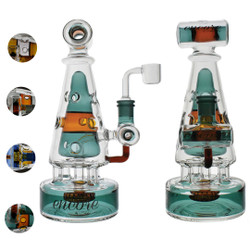 "10"" Encore Pyramid Tower Fab Egg Color Dab Rig"