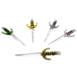 dab tool shaped like a sword - assorted colors made of glass