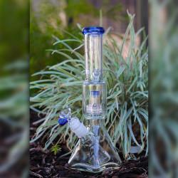 """12"""" Encore Square Based Beaker Pyramid Glass Bong Matrix Perc"""