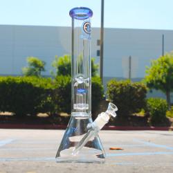 15″  50mm×5 Encore Color Lip Showerhead  Glass Water Pipe Bong