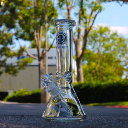 Thick Square Lip Encore Collection Water Pipe Glass 12 inch Bong Beaker
