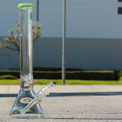 "50mm x 9mm Thick Wall Encore Collection 18"" Glass Water Pipe Bong"