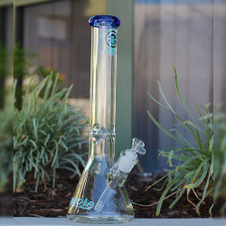 "50mm x 9mm Thick Wall Encore Collection 16"" Glass Water Pipe Bong"