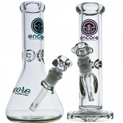 """50x9mm Thick 10"""" Glass Bong by Encore"""