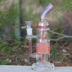 Encore Collection Glass Dab Rig Ratchet Incycler Reycler Left Side
