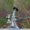 "7"" Encore Collection Assorted Color Bell Beaker Showerhead Glass Dab Rig (EC-R110) - Side Angle"