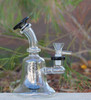 "7"" Encore Collection Assorted Color Bell Beaker Showerhead Glass Dab Rig (EC-R110) - Right Side"